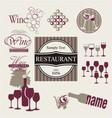 set wine and drink design elements vector image