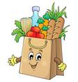 shopping bag theme image 1 vector image