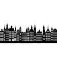 silhouettes of houses vector image vector image