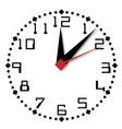 simple black and white clock thirty-first edition vector image vector image