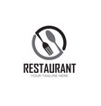 spoon and fork circle restaurant logo designs vector image