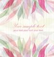 Spring floral pink background vector image vector image