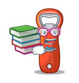 student with book opener bottle cap isolated on vector image vector image