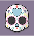 sugar skull halloween vector image