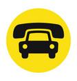 taxi cab service icon vector image vector image