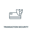 transaction security icon thin line style symbol vector image