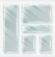 transparent glass banners 3d window glass or vector image vector image
