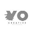 vo v o zebra letter logo design with black and vector image vector image