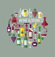 wine flat vector image