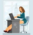 woman at work vector image vector image
