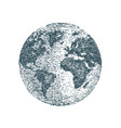 world planet earth sketch travel business vector image vector image