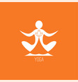 yoga icon vector image vector image