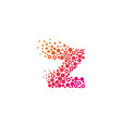 z particle letter logo icon design vector image