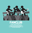 Fan Club The Big Fan Of The Band vector image
