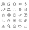 25 outline universal bank icons vector image