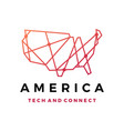america tech connection logo icon vector image