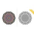 antistress coloring page mandala third vector image vector image