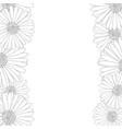 aster daisy flower outline border vector image vector image
