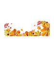 autumn abstract background with space for text vector image vector image