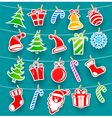 background with christmas icons vector image vector image
