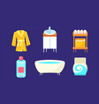 bath equipment and accessories set bathroom vector image vector image