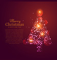 beautiful christmas tree design made with vector image vector image