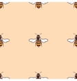 Bees seamless background in beige vector image