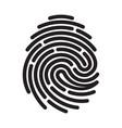 black fingerprint vector image