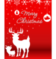 christmas background with reindeer bareindeer vector image vector image