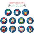 Christmas Santa and Animals vector image