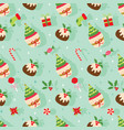 christmas seamless pattern with sweet dessert vector image vector image