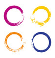 colorful set with rainbow circle brush strokes vector image vector image