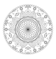 Creative ornament on white background vector image vector image