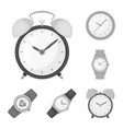 design of time and hour sign collection of vector image