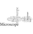 different types microscopes vector image vector image