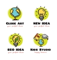 doodle logo collection Funny cartoon style vector image
