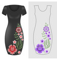 fashion dresses template pink blue floral vector image