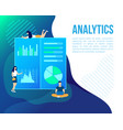 finance strategy analytic project start up vector image vector image