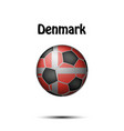 flag of denmark in the form of a soccer ball vector image