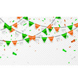 flags garland to st patricks day party background vector image vector image