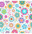 flower seamless pattern blooming botanical motifs vector image