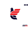 flying bird logo vector image vector image