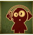 Funny character in headphones vector image vector image