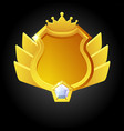 golden shield template for game achievement