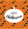 halloween scary pumpkin pattern poster card vector image vector image