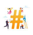 hashtag social media concept communication vector image