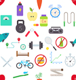 healthy lifestyle pattern stickers vector image