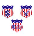 heraldic shields vector image vector image