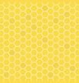 honeycomb yellow colored grid stylish abstract vector image vector image