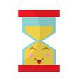 hourglass time tongue out kawaii character vector image